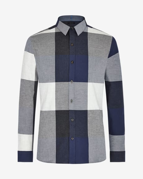 Tailored fit big check shirt