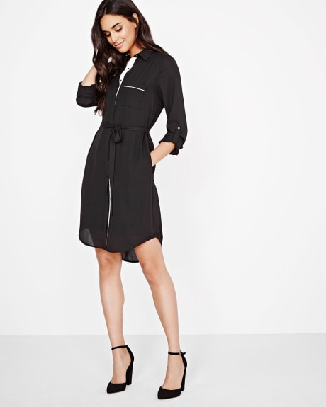 Crepe Shirtdress