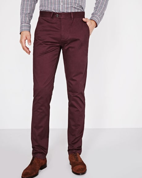 Slim fit chino pant with slash pockets - 34'' inseam