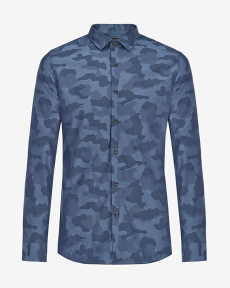 Slim fit camouflage shirt