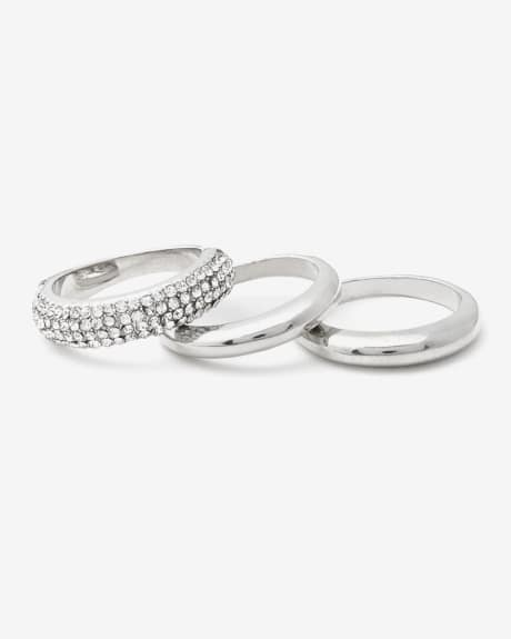Set of 3 dainty rings