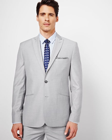 Tailored Fit Sharkskin Blazer