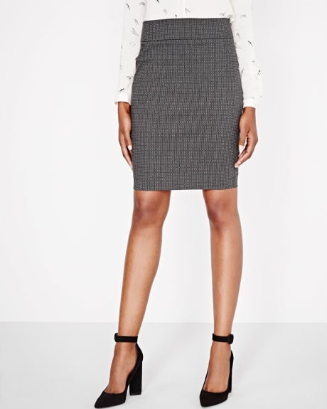 Modern Stretch Geo Jacquard skirt