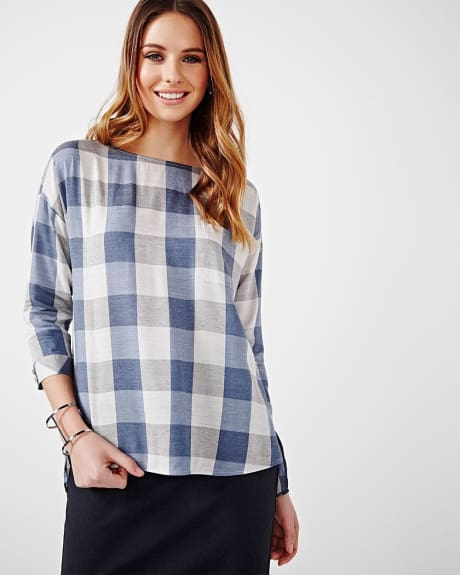 Boatneck Shirt Blouse