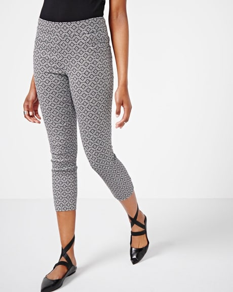 Modern stretch legging in mosaic pattern