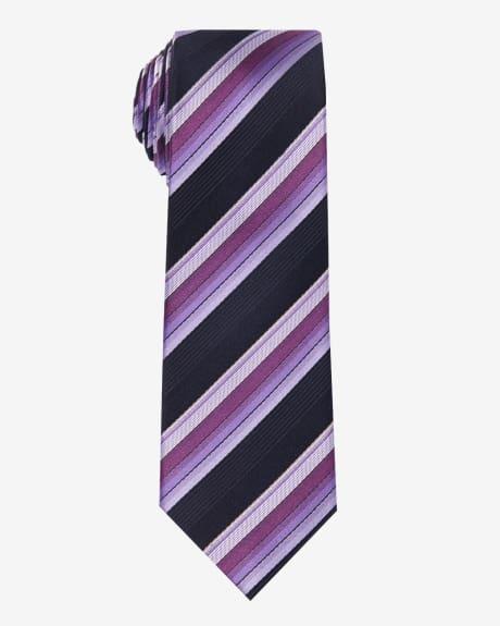 Regular striped tie.Hollyhock.1SIZE
