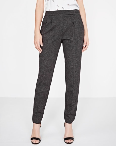 Heather Pleated Pant