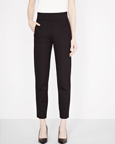 Cropped Slim leg pull-on pant