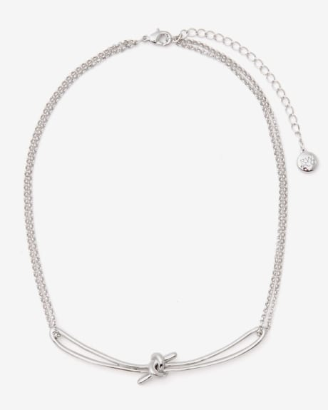 Kotted silver chain choker