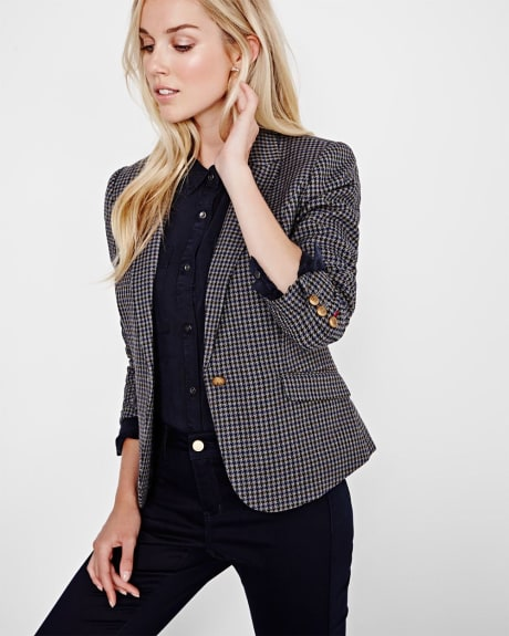 Everyday Stretch Houndstooth blazer