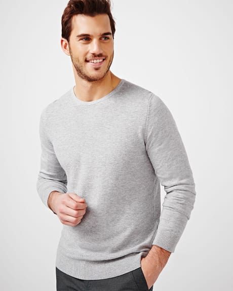 Crew Neck Fancy Stitch Sweater