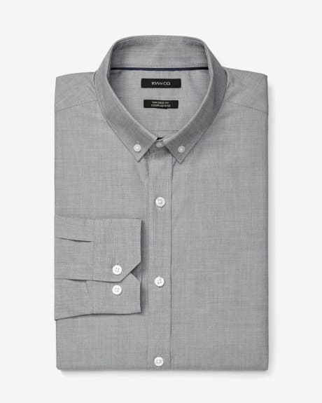 Tailored fit end-on-end dress shirt
