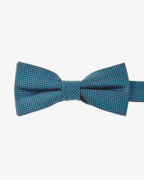 Skinny solid micro print bow tie