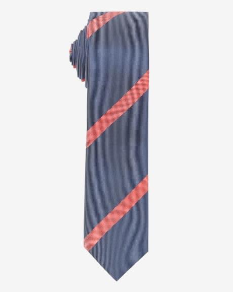 Skinny Striped Tie.Molten lava.1SIZE