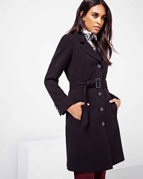 Belted tricotine jacket