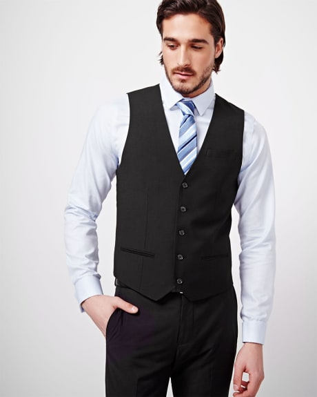 Tailored Fit Wool-Blend Suiting Vest