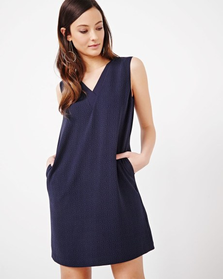 Sleeveless Textured Dress