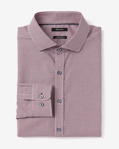 Athletic Fit Houndstooth Dress Shirt