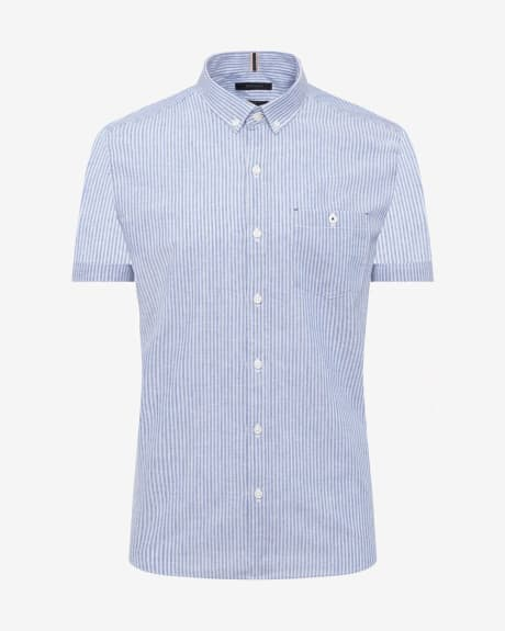 Tailored Fine Stripe Short Sleeve Shirt