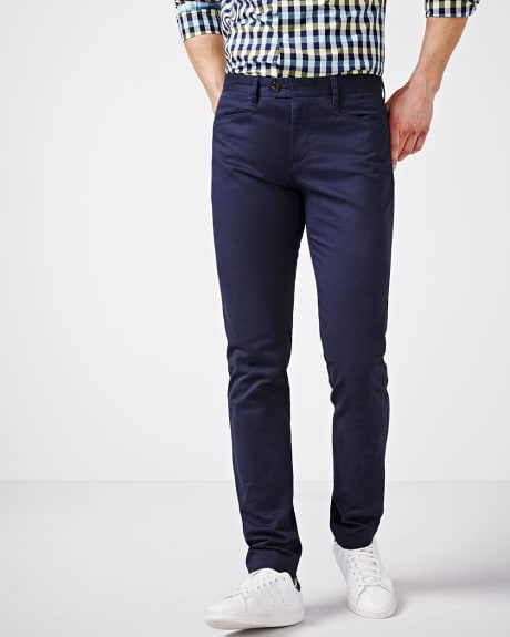 Slim fit chino pant with L-shape pockets - 34'' inseam
