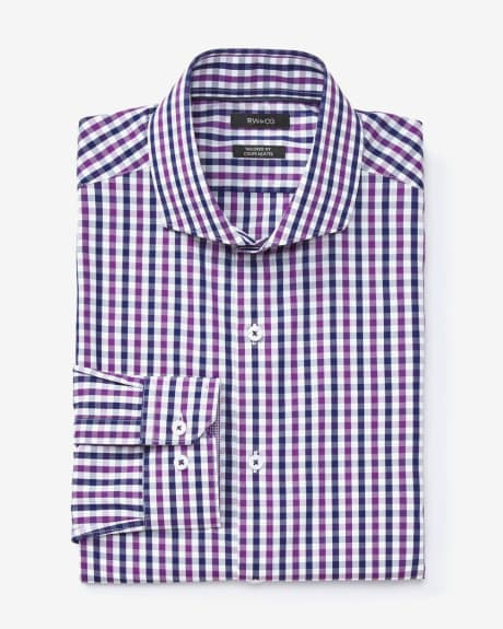 Tailored fit dress shirt in two-tone check
