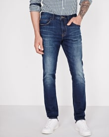 Slim fit medium blue jean