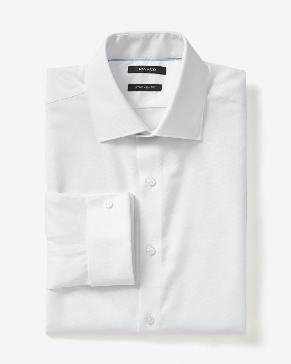Tailored fit textured dress shirt rw co for Tailoring a dress shirt