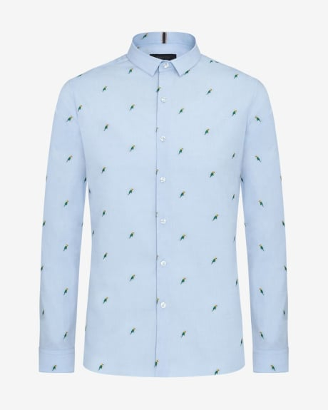 Slim Fit Parrot Shirt