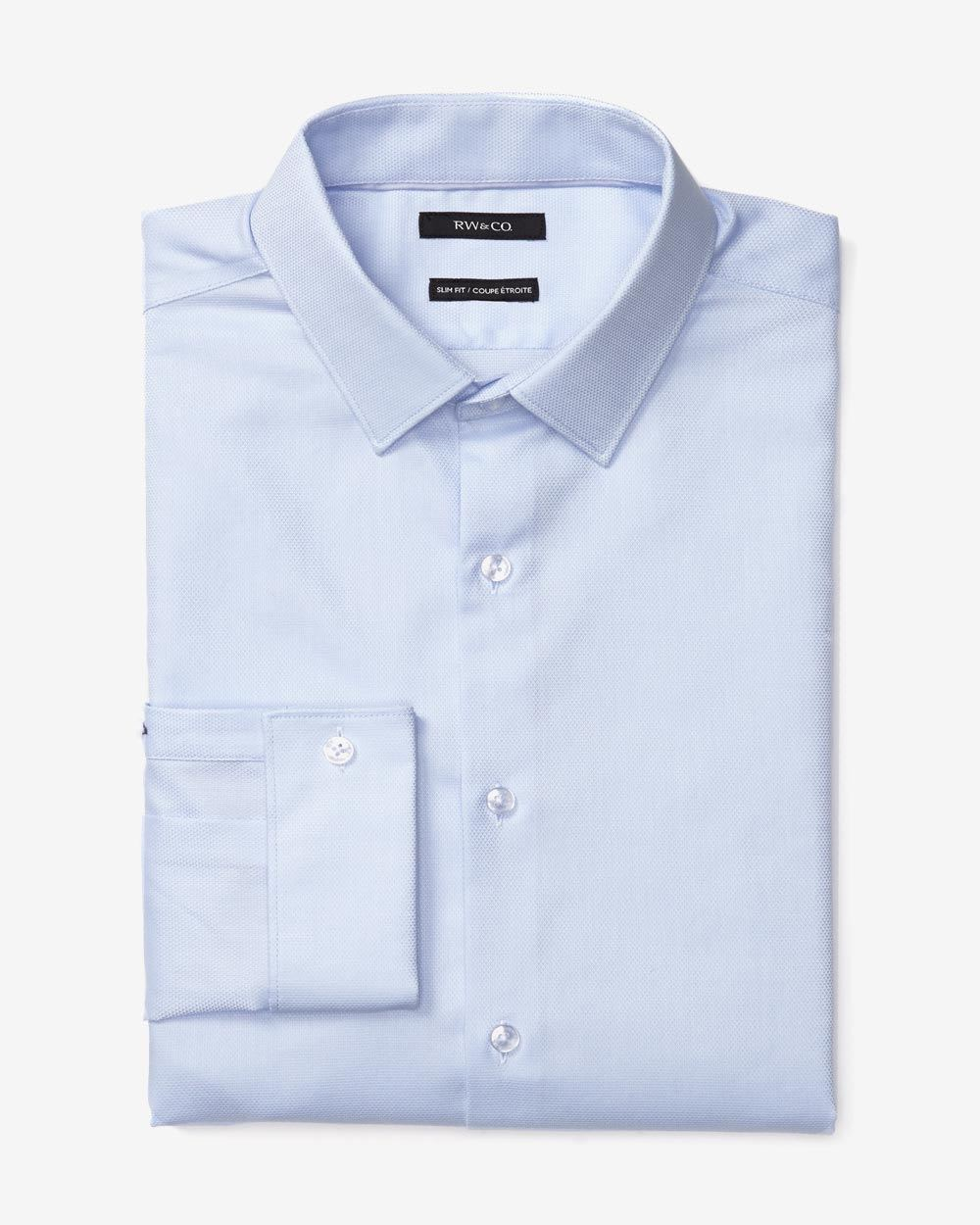 Tailored fit dress shirt with french cuff rw co for Tailoring a dress shirt