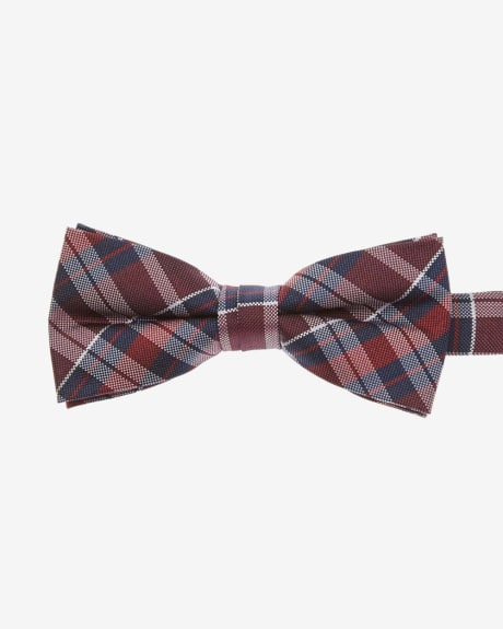Classic bow tie in red and blue check