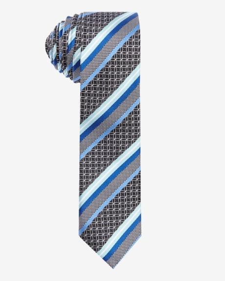 Skinny Printed Tie.Cream of mint.1SIZE