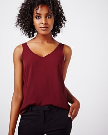 V-neck woven cami - new colours