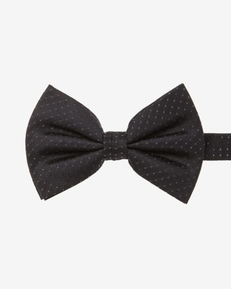Wide Dotted Bow Tie
