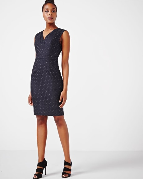 Everyday Stretch Dotted Dress