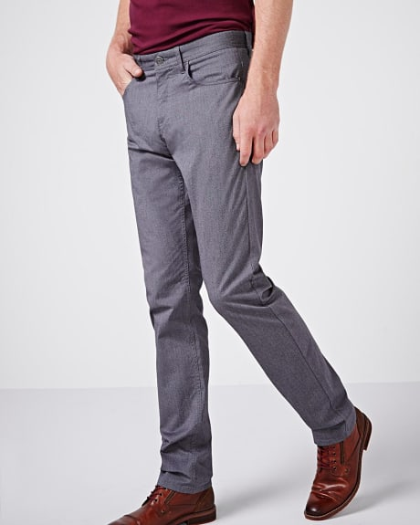Modern straight 5-pocket pant - 34 inch.Fall medium heather grey.34