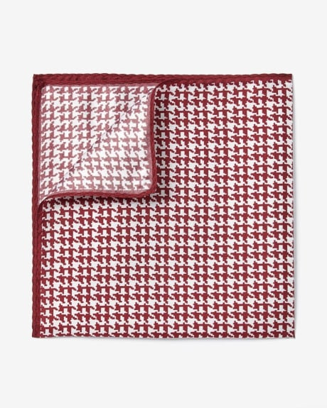 Rust houndstooth pocket square