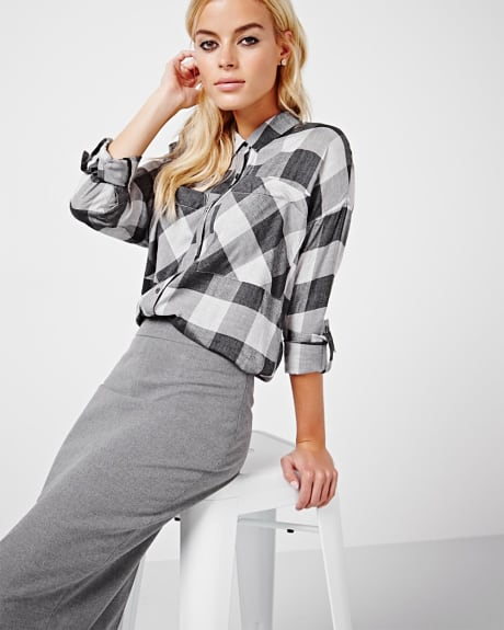 Heather plaid blouse