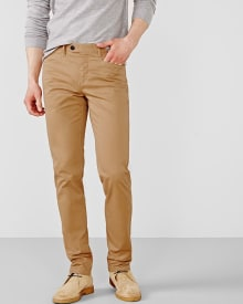 Slim fit chino with L-shape pockets - 32 inch