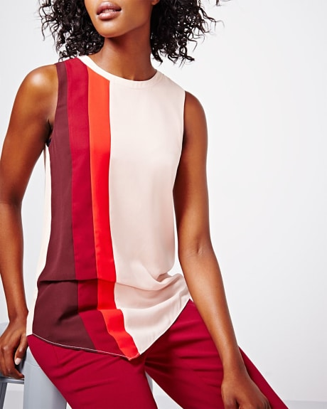 Colour block asymmetrical t-shirt