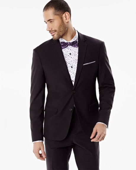 Athletic fit solid blazer
