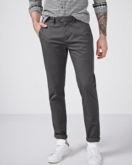 Slim fit chino pant with slash pockets - 30'' inseam