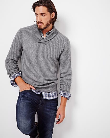 Essential Shawl collar sweater