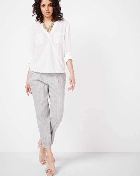 Pleated Linen Blend Pant