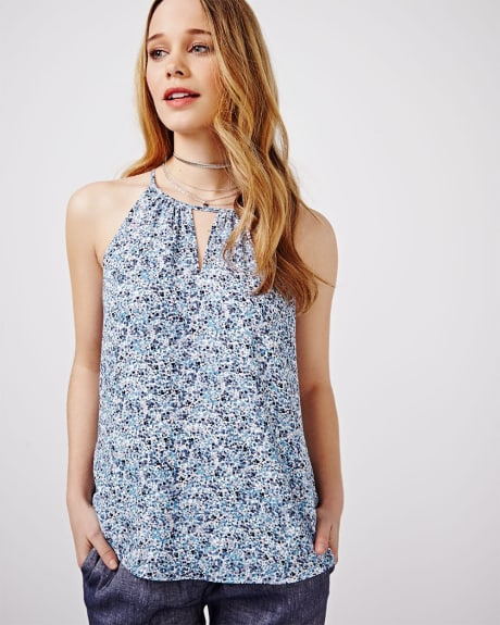 Printed Halter Cami Blouse