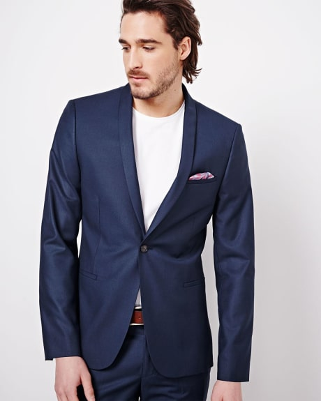 Slim Fit Ink Sharkskin Blazer