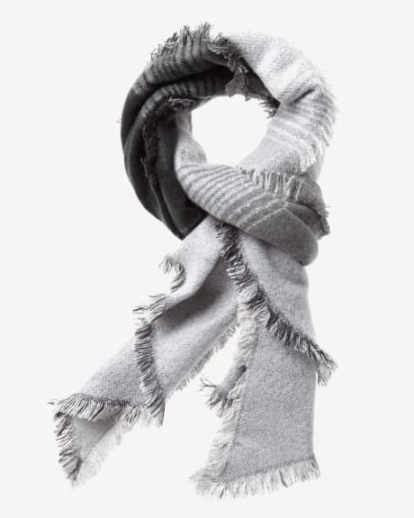 Bias cut stiped scarf