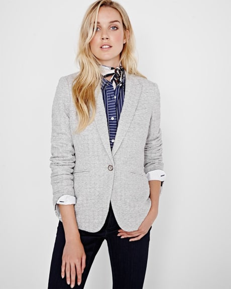 Textured knit blazer