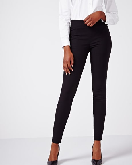 Solid black modern stretch legging