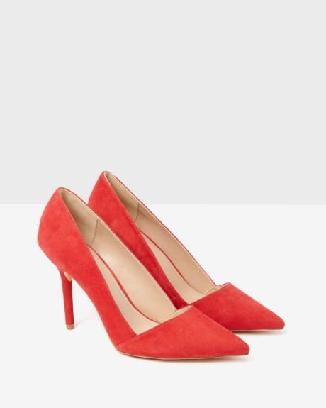 Suede Pump.Peach blush.9