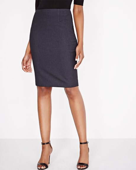 Everyday Stretch two-tone pencil skirt